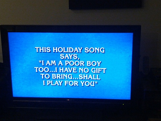 Little Drummer Boy on Jeopardy
