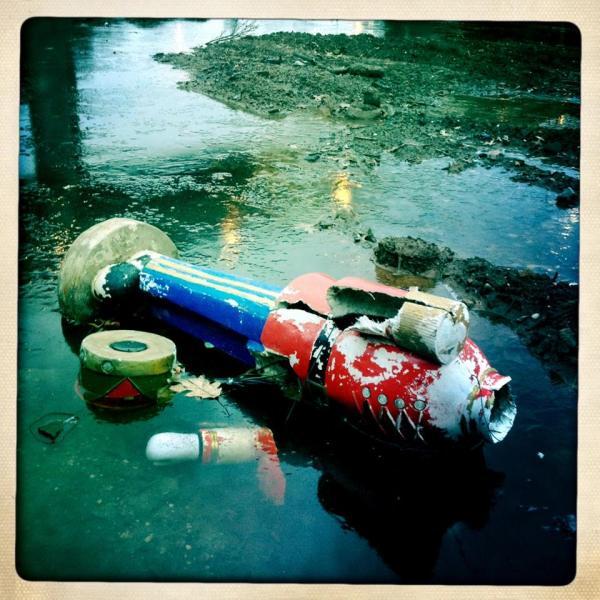 Fallen drummer by Reuben Radding