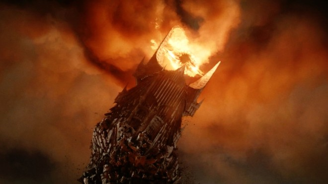 Sauron's Tower Falling