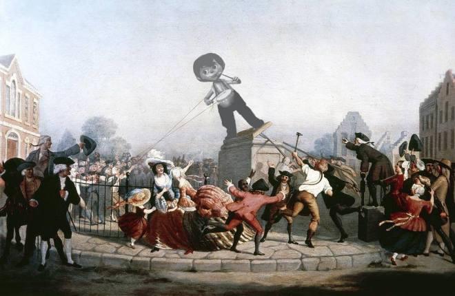 LDB Statue Toppling